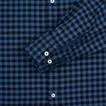 Universal Works Standard Funk Check Men's shirt Blue photo- 3