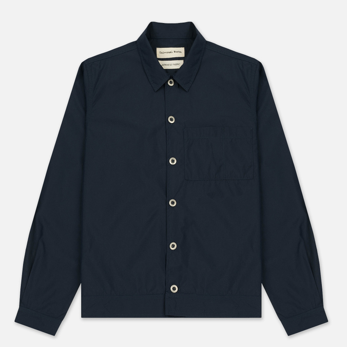 Мужская рубашка Universal Works Uniform Cotton/Nylon Navy