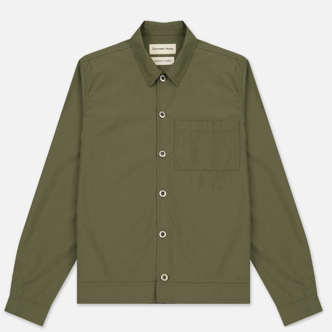 Мужская рубашка Universal Works Uniform Cotton/Nylon Olive