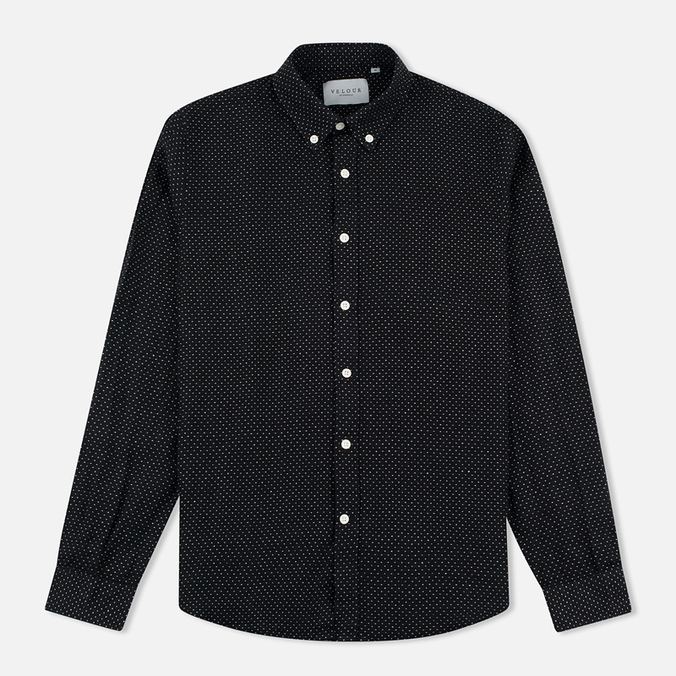 Мужская рубашка Velour Common Dot Linnen Black/Off White Melange