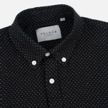 Мужская рубашка Velour Common Dot Linnen Black/Off White Melange фото- 1
