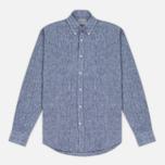 Мужская рубашка Velour Linen Business Navy/Off White фото- 0