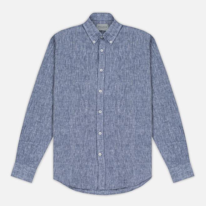 Мужская рубашка Velour Linen Business Navy/Off White