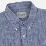 Мужская рубашка Velour Linen Business Navy/Off White фото- 1