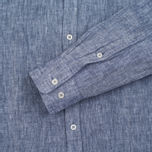 Мужская рубашка Velour Linen Business Navy/Off White фото- 2