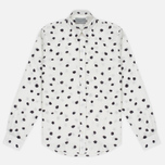 Мужская рубашка Velour Standard Random Dot Off White/Dark Grey фото- 0
