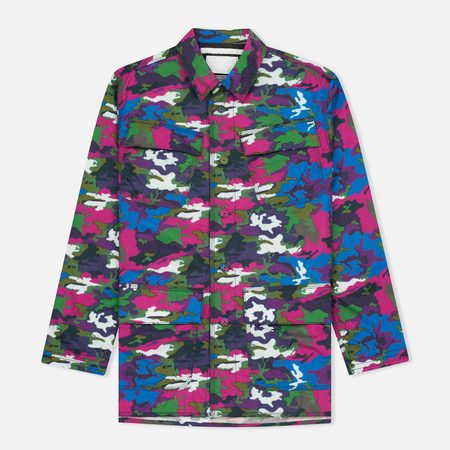 Мужская куртка White Mountaineering Spectrum Camouflage Printed Blue