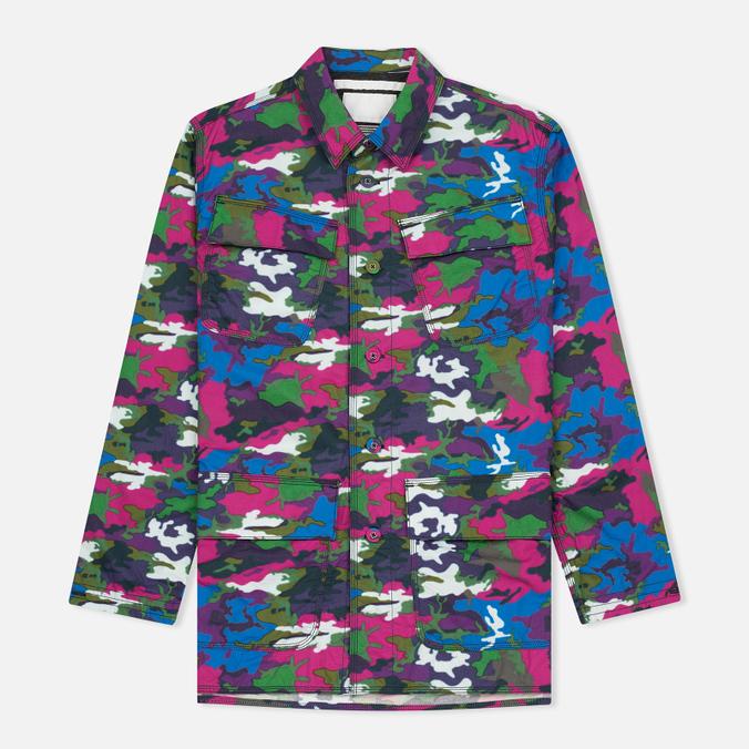 Мужская куртка White Mountaineering Spectrum Camouflage Printed Blue