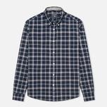 Woolrich Flannel Button Down Large Men's Shirt Royal Blue photo- 0