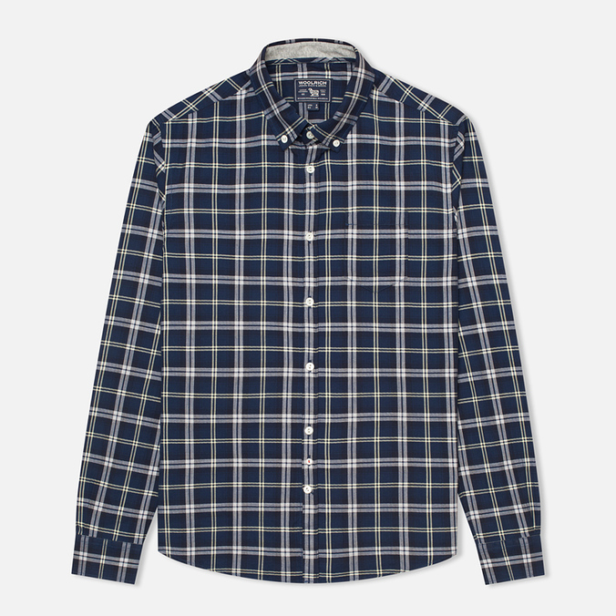 Мужская рубашка Woolrich Flannel Button Down Large Royal Blue