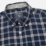 Woolrich Flannel Button Down Large Men's Shirt Royal Blue photo- 1