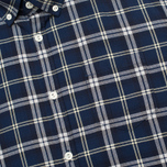 Woolrich Flannel Button Down Large Men's Shirt Royal Blue photo- 2