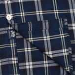 Woolrich Flannel Button Down Large Men's Shirt Royal Blue photo- 6