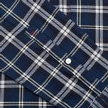 Woolrich Flannel Button Down Large Men's Shirt Royal Blue photo- 5