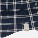 Woolrich Flannel Button Down Large Men's Shirt Royal Blue photo- 7