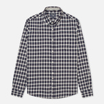Woolrich Flannel Button Down Small Men's Shirt Dark Blue photo- 0