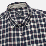 Woolrich Flannel Button Down Small Men's Shirt Dark Blue photo- 1