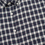 Woolrich Flannel Button Down Small Men's Shirt Dark Blue photo- 2