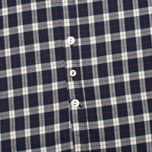 Woolrich Flannel Button Down Small Men's Shirt Dark Blue photo- 3