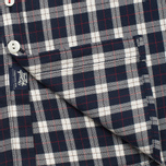 Woolrich Flannel Button Down Small Men's Shirt Dark Blue photo- 5