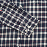 Woolrich Flannel Button Down Small Men's Shirt Dark Blue photo- 4