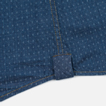 Мужская рубашка Woolrich Light Indigo Twill Dot Navy фото- 4