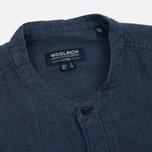 Мужская рубашка Woolrich Linen Corean Collar Medieval Blue фото- 1