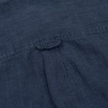 Мужская рубашка Woolrich Linen Corean Collar Medieval Blue фото- 4