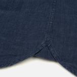 Мужская рубашка Woolrich Linen Corean Collar Medieval Blue фото- 5
