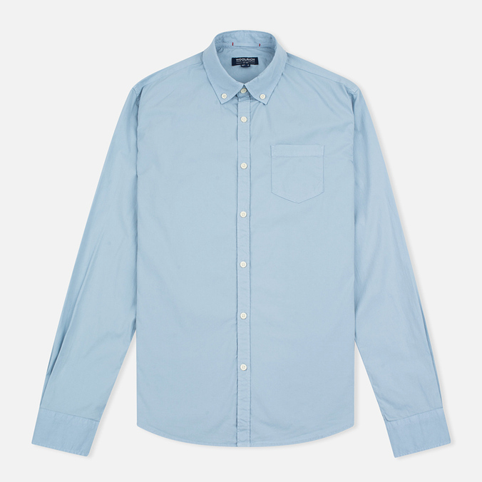 Мужская рубашка Woolrich Stretch Popeline GD Light Pale Blue