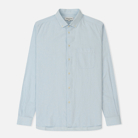 Мужская рубашка YMC Dean Harajuku Cotton Linen Blue