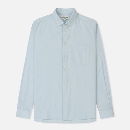Мужская рубашка YMC Dean Harajuku Cotton Linen Blue