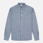 Мужская рубашка YMC Harajuku BD Blue фото- 0