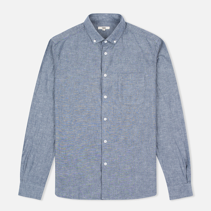 Мужская рубашка YMC Harajuku BD Blue