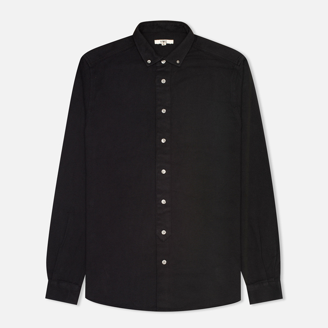 Мужская рубашка YMC Herringbone Button Down Black