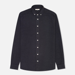 Мужская рубашка YMC Herringbone Button Down Navy фото- 0