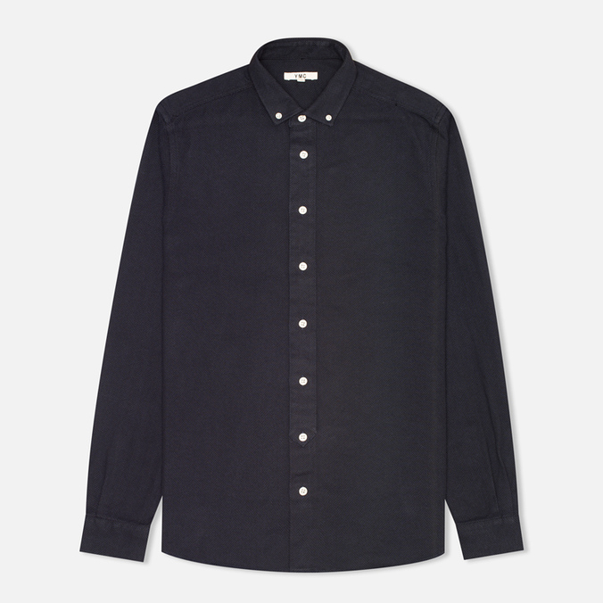 Мужская рубашка YMC Herringbone Button Down Navy
