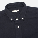Мужская рубашка YMC Herringbone Button Down Navy фото- 1