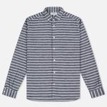 Мужская рубашка YMC Jan & Dean Stripe Navy фото- 0