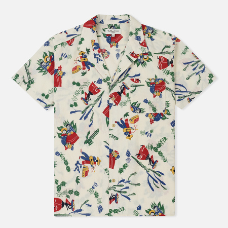 Мужская рубашка YMC Malick Mexican Print Dobby Ecru
