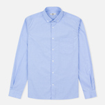 YMC Poplin BD Men's Shirt Blue photo- 0