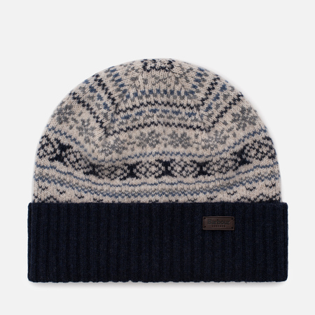 Мужская шапка Barbour Gisburne Beanie Ecru/Grey/Navy