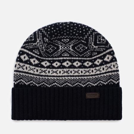 Мужская шапка Barbour Gisburne Beanie Navy/Ecru