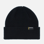 Мужская шапка Barbour International Beanie Black фото- 0