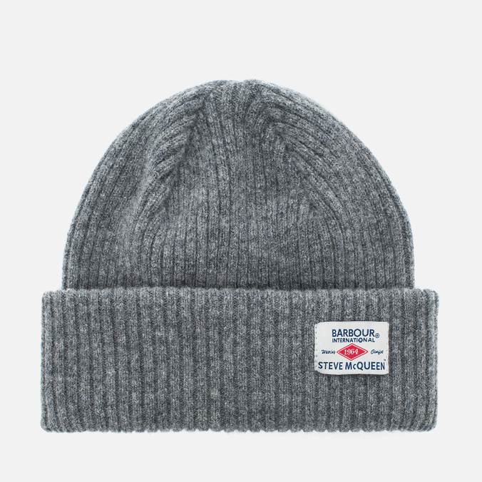 Мужская шапка Barbour x Steve McQueen International Everett Beanie Grey