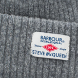 Barbour x Steve McQueen International Everett Beanie Men's Hat Grey photo- 1