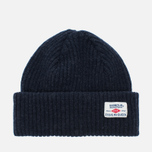 Мужская шапка Barbour x Steve McQueen International Everett Beanie Indigo фото- 0