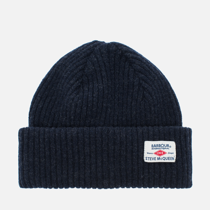 Мужская шапка Barbour x Steve McQueen International Everett Beanie Indigo