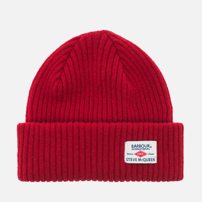 Мужская шапка Barbour x Steve McQueen International Everett Beanie Red