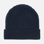 Мужская шапка Billionaire Boys Club Gentleman Patch Beanie Navy фото- 1